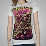 Rise Records Nuclear Soldier White Girls T-Shirt