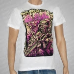 Rise Records Nuclear Soldier White T-Shirt
