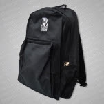 Rise Records R Logo Black Backpack