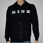 Rise Records Tattoo Black Hoodie Zip