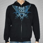 Rise Records Wings Black Hoodie Zip