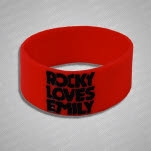 Rocky Loves Emily American Dream Red Wristband
