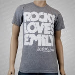 Rocky Loves Emily Logo Gray T-Shirt