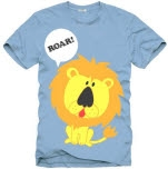 Romance On A Rocketship Lion Light Blue T-Shirt
