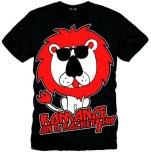 Romance On A Rocketship Rock Lion Went Crazy Black T-Shirt