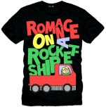 Romance On A Rocketship Truck Black T-Shirt