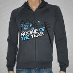 Rookie Of The Year Powerlines Gray Hoodie Zip