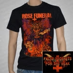 Rose Funeral Demon Black T-Shirt