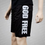 Rose Funeral God Free Black Mesh Shorts