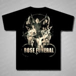 Rose Funeral Priest Black T-Shirt