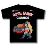 Royal Family Clothing Comic Black T-Shirt
