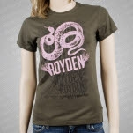 Royden Snake Army Green Girls T-Shirt