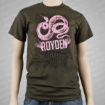 Royden Snake Army Green T-Shirt