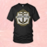 Saves The Day Anchor Black T-Shirt