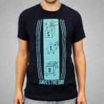 official Saves The Day Developing Navy T-Shirt