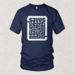 Saves The Day Maze Logo Navy T-Shirt
