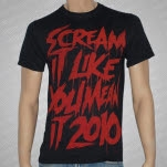 Scream It Like You Mean It Tour Scream It Like You Mean It Tour Black T-Shirt