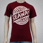 Seaway MAKE UP YOUR MIND Maroon T-Shirt