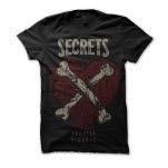 SECRETS Fragile Heart Black T-Shirt
