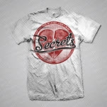 SECRETS Heart White T-Shirt