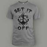 Set It Off Anchor Heather Grey T-Shirt