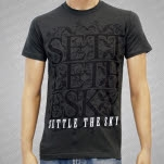 Settle The Sky Floral Text Charcoal Gray T-Shirt