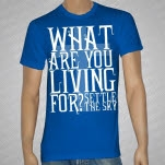 official Settle The Sky What Are You Living For Royal Blue T-Shirt
