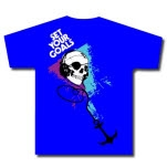 Set Your Goals Pirate Skull Blue T-Shirt
