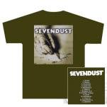 Sevendust Home Album Olive Green T-Shirt