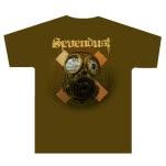 Sevendust Gas Mask Brown T-Shirt
