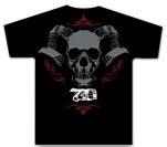 Sevendust Sevendust Skull Horns Black T-Shirt