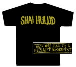 Shai Hulud Misanthropist Gold Print Black T-Shirt