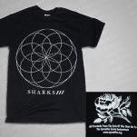 Sharks Wheel Black T-Shirt