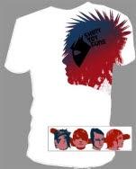 Shiny Toy Guns Big Head White T-Shirt
