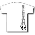 Shiny Toy Guns Letters White T-Shirt