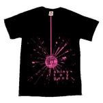 Shiny Toy Guns Pink Disco Ball Black T-Shirt
