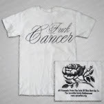 Shirts For A Cure Fuck Cancer Gray Script White T-Shirt