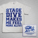 Shirts For A Cure Stage Dive White T-Shirt