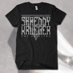 official Shreddy Krueger Snake Black T-Shirt
