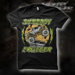 Shreddy Krueger Truck Black T-Shirt