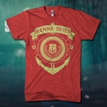 Sienna Skies Anchor Heather Red T-Shirt