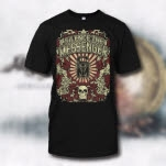 Silence The Messenger Crest Black T-Shirt