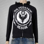 Silverstein Siren Heather Charcoal Hoodie Zip