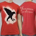Sister Sparrow  The Dirty Birds Bird Heather Red T-Shirt