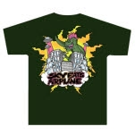 Sky Eats Airplane Destructo Forest Green T-Shirt