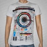 Sky Eats Airplane Orbital Silver Gray T-Shirt