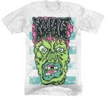 official Sky Eats Airplane Zombie Face White T-Shirt