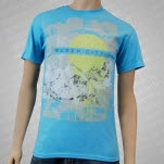 Sleep City Mountains Light Blue T-Shirt