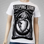 Sleeping Giant Bleeding Heart White T-Shirt