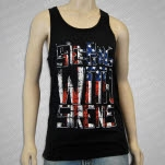 Sleeping With Sirens flag Black Tank Top